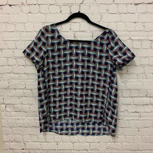 COOPER & ELLA - Patterned Blouse with Front Cutout